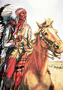 Chief Crazy Horse on horse