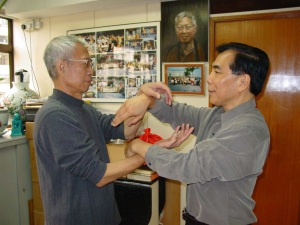 My Sifu with his Sifu.