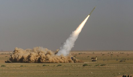 EDITORS' NOTE: Reuters and other foreign media are subject to Iranian restrictions on their ability to film or take pictures in Tehran. An Iranian Fateh (Victor) missile is launched during a test at an unknown location in central Iran September 27, 2009. Iran test-fired short-range missiles on Sunday to show it was prepared to head off any military threat, four days before the Islamic Republic is due to hold rare talks with world powers worried about its nuclear ambitions. REUTERS/Fars News/Ali Shayegan (IRAN MILITARY POLITICS) QUALITY FROM SOURCE